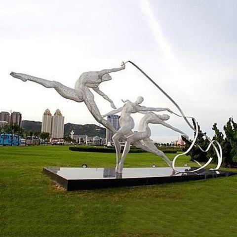 运动人物不锈钢雕塑