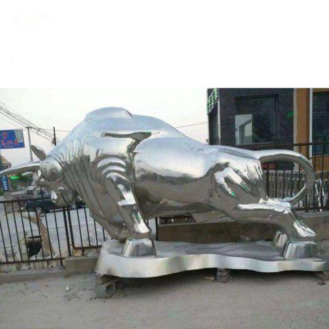 不锈钢动物华尔街牛