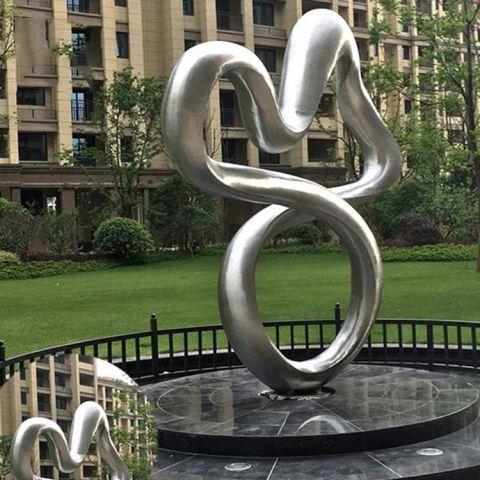 不锈钢小区抽象景观雕塑