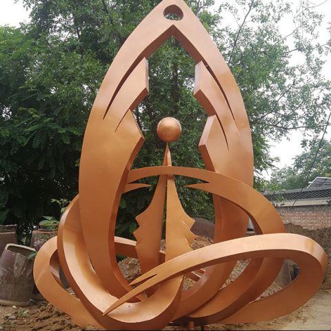 不锈钢景观抽象装饰雕塑