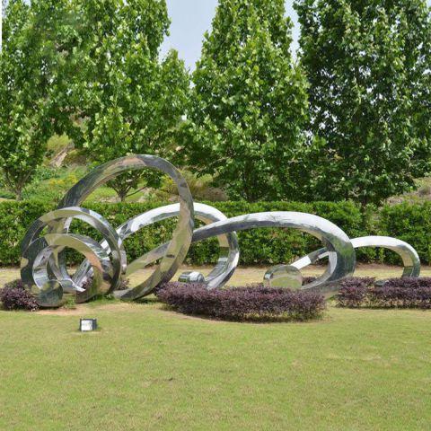 不锈钢景观圆环雕塑