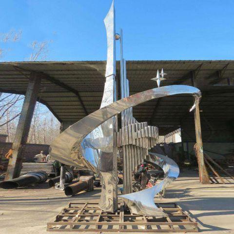 不锈钢城市抽象景观雕塑