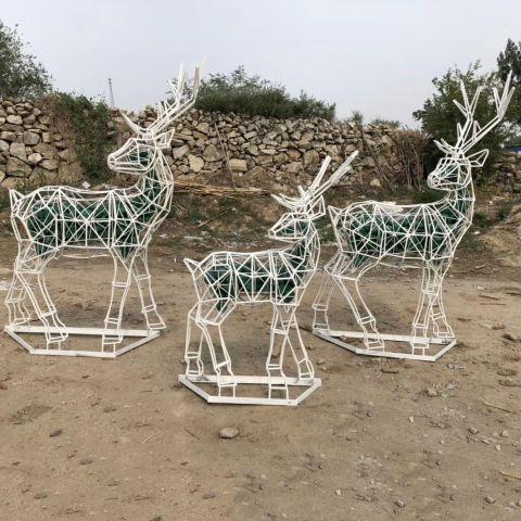 不锈钢织网动物梅花鹿