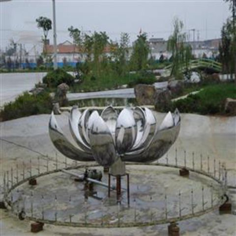 不锈钢创意莲花雕塑