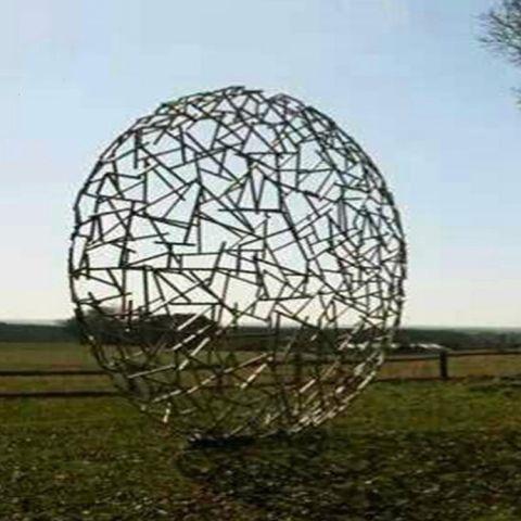 不锈钢抽象铁艺镂空球